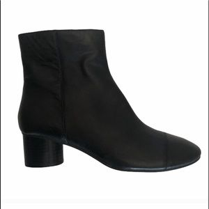 NWT Nine West leather block heel ankle boot size 8